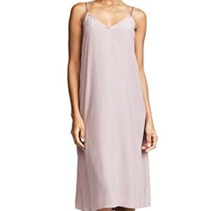 NEW ATM mauve silk slip dress
